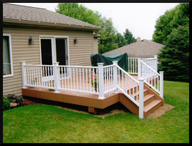 Mark pflug general contracting decks for Pictures of small patios and decks