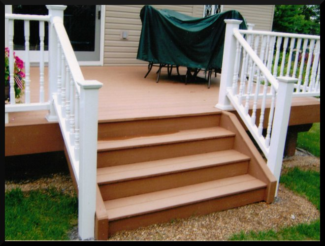 how to build a small deck with steps