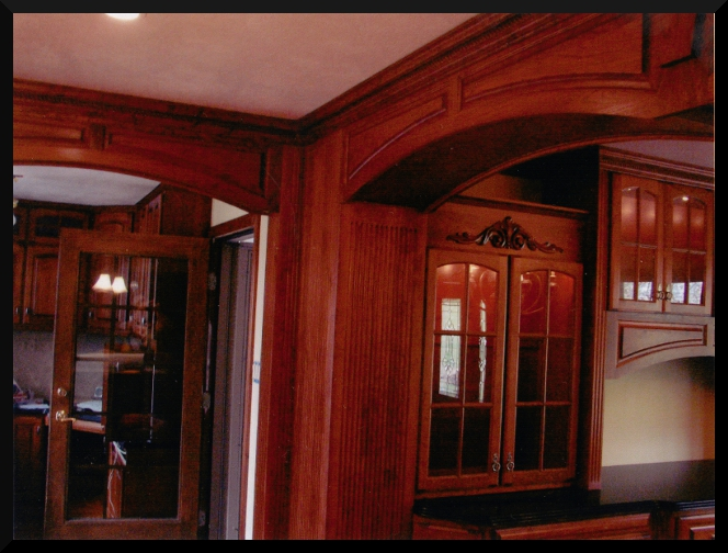 Archway between Dining Room and Kitchen